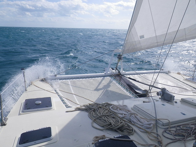Sailing in 20 knots