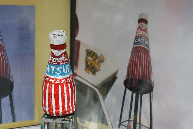 World's Smallest Version of the World's Largest Bottle of Catsup, Collinsville IL, with meta-photo