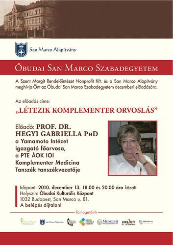 San Marco Szabadegyetem: Prof. Dr. Hegyi Gabriella PhD