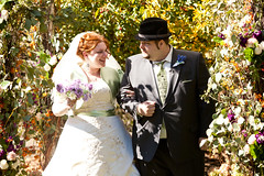 My husband, Dan, and I, on our wedding day.