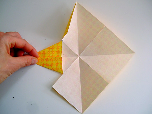 Tutorial super simple paper stars annekata for How to make 3d paper stars easy