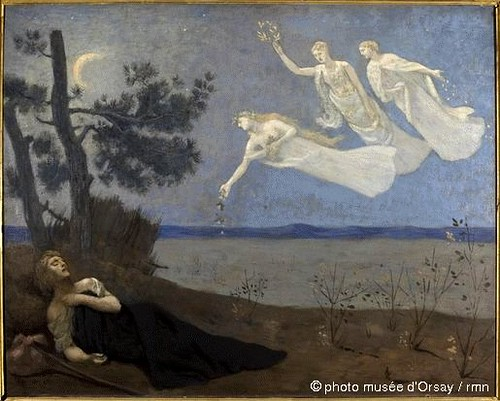 Puvis de Chavannes, Pierre (1824-1898) - 1883 The Dream (Musee d'Orsay, Paris)
