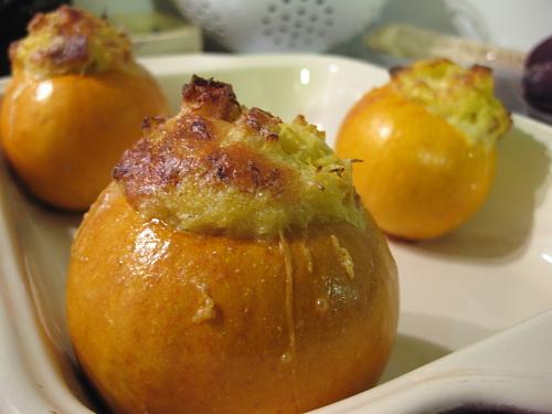 Pommes d'or farcies