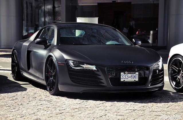 Matte Black Audi R8 | Flickr - Photo Sharing!