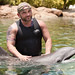 Survivor Villain Russell Hantz with Dexter at Discovery Cove in Orlando
