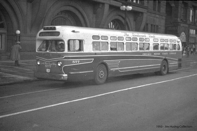 Historic Photo Chicago Motor Coach Comapny General Motors