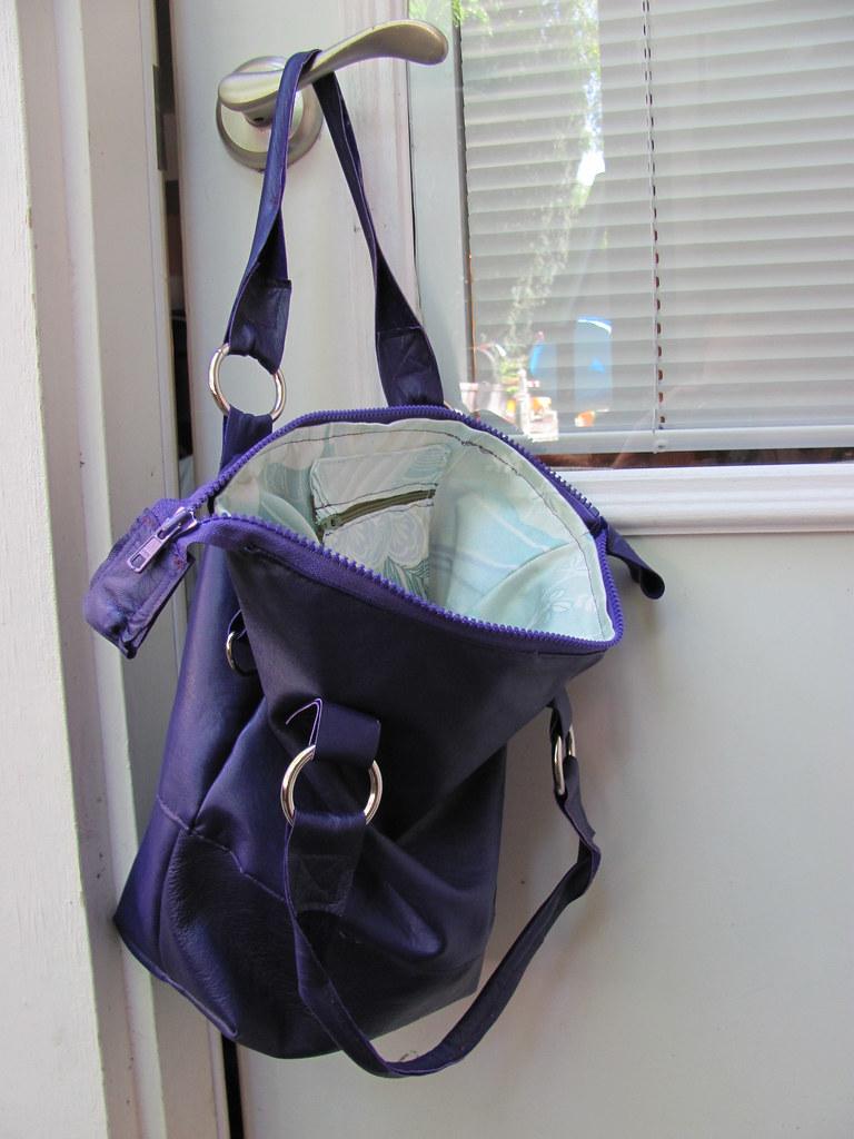 Purple Leather Purses Purple Leather Black Chain Purse