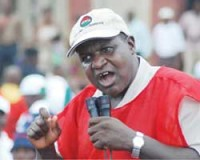 Nigerian Labour Congress leader Alhaji Abduwahid Omar. The NLC is threatening a nationwide strike to enforce the national minimum wage law to provide N18,000 per year in salaries. by Pan-African News Wire File Photos