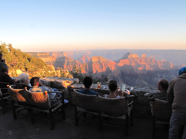 Sunset From The View Deck Grand Canyon Lodge North Rim