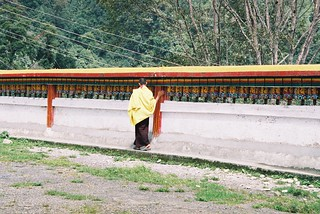 India Sikkim Rumtek Monastery prayer wheels
