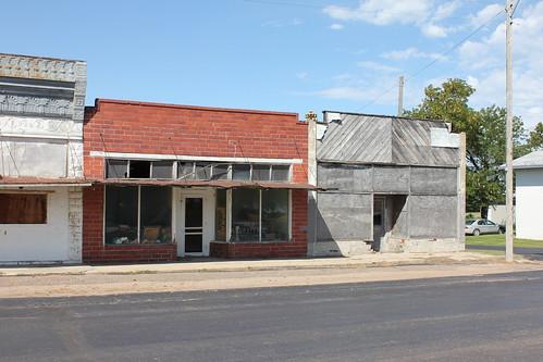 Abandoned storefronts - Virginia, NE