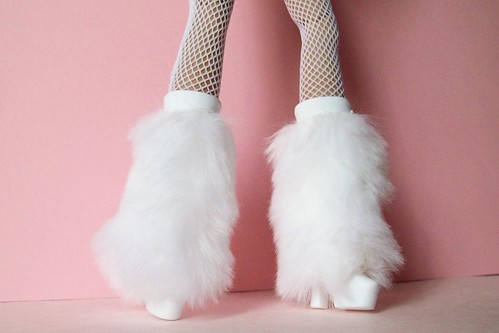 """Cool It"" furry platform boots. by partymonstrrrr"