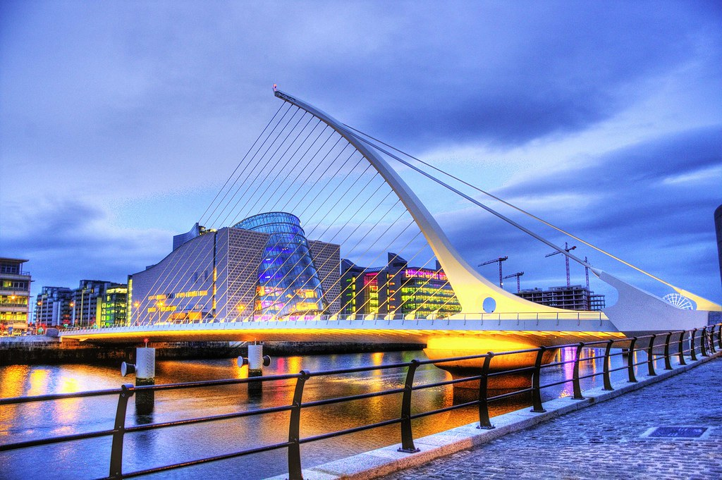 New Samuel Beckett Bridge Structure