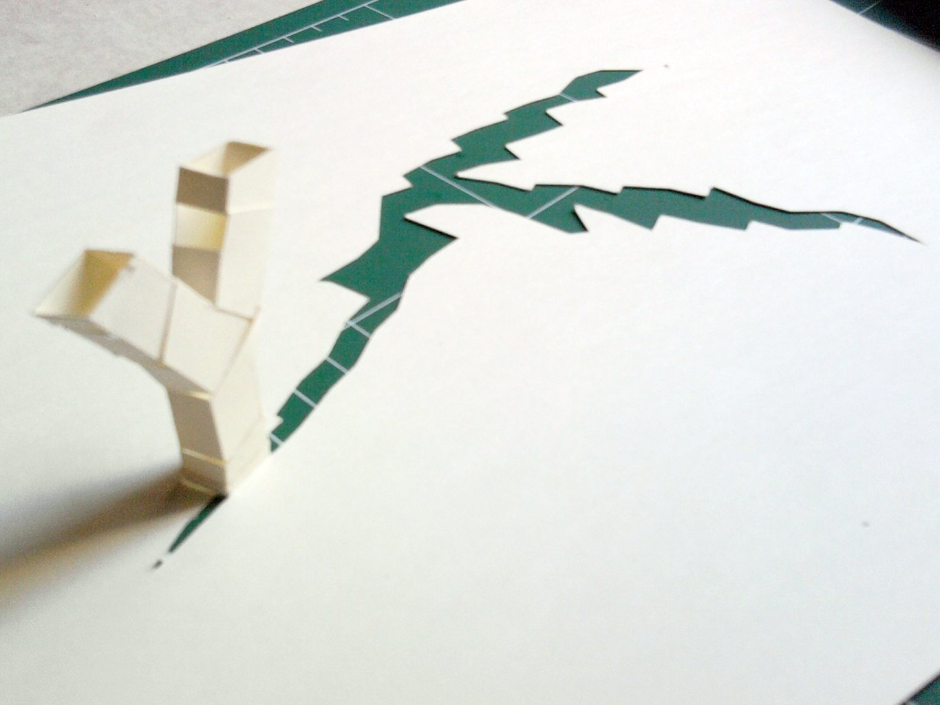 Y - 2 and 3d paper typography/sculpture