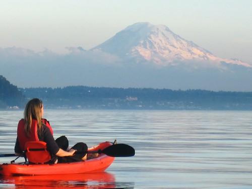 Sunset Paddle on Puget Sound