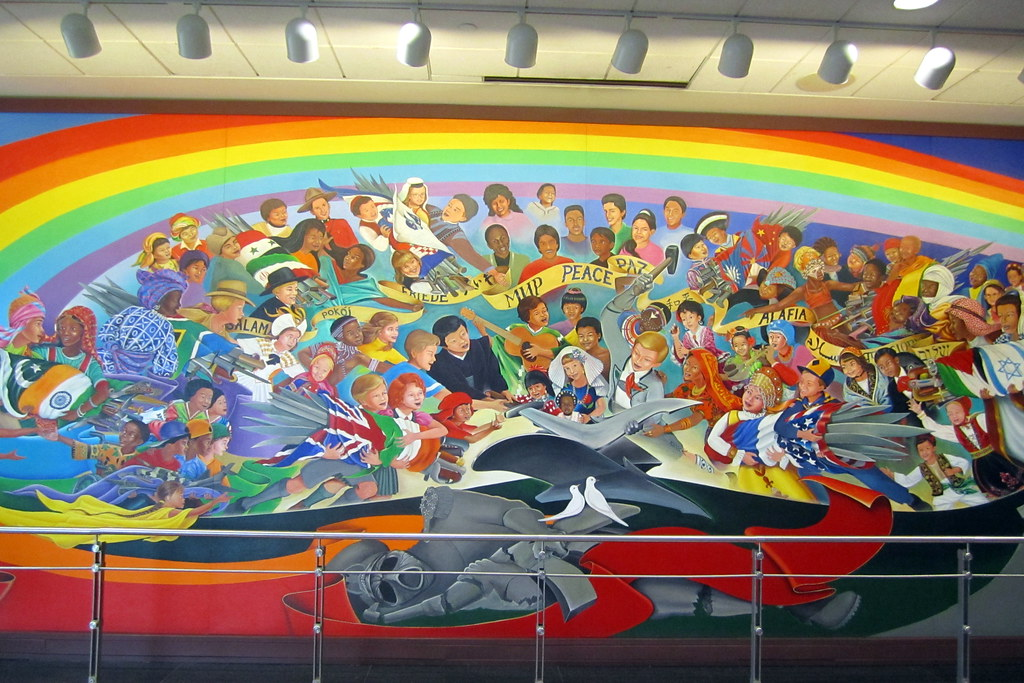 Denver denver international airport the children of for Denver mural conspiracy