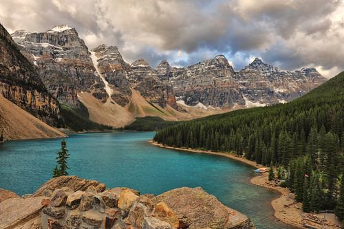 A Stormy Morning at Moraine Lake