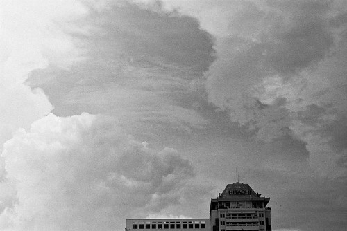 The sky of Yangon