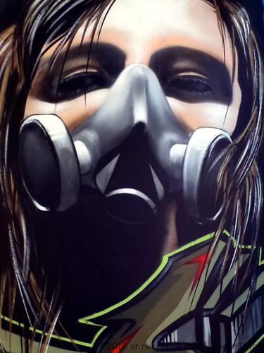 Gas mask girl @ Park Spoor Noord