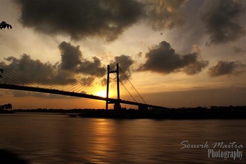 travel sunset india architecture landscape riverside motionblur kolkata ganges canon500d vidyasagarsetu anawesomeshot flickrdiamond 2ndhooghlybridge bestofmywinners
