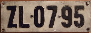 HUNGARY 1958 SERIES ---FULL SIZED REAR PLATE