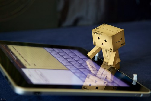 Danbo types a note