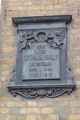 Photo of Samuel Romilly bronze plaque