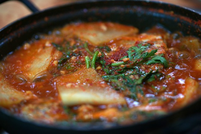 maeuntang, spicy fish soup