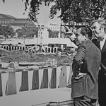 Patrick Moynihan and Richard Nixon Touring the Redevelopment Area of Pennsylvania Avenue. 1970