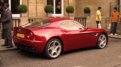 automobile(1.0), alfa romeo(1.0), vehicle(1.0), automotive design(1.0), alfa romeo 8c(1.0), alfa romeo 8c competizione(1.0), land vehicle(1.0), luxury vehicle(1.0), supercar(1.0), sports car(1.0),
