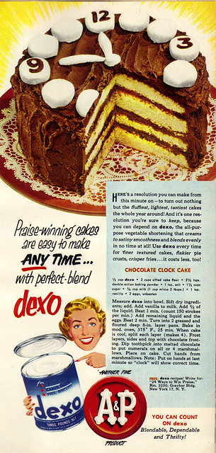 Vintage Ad #1,224: Rock Around the Cake Clock Tonight