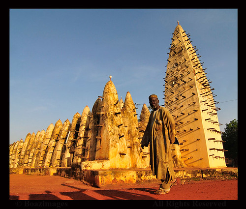 world life africa morning man west architecture sunrise early muslim traditional bobo culture documentary style grand mosque tradition locations burkina sahel faso mywinners dioulasso boazimages sahelian