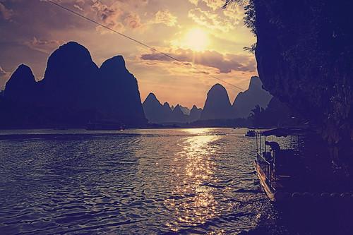 china travel sunset sun set dark 5 sony hdr nex yangzhuo nex5 sonynex5