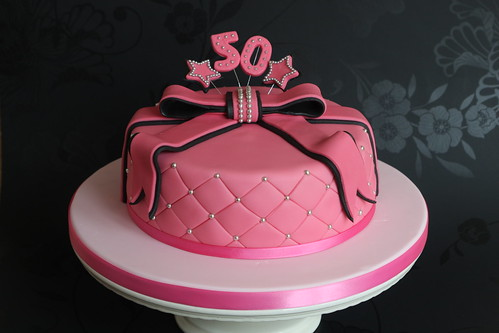 Birthday Cake Images With Name Nikki : Pink and Black 50th Birthday Cake - a photo on Flickriver