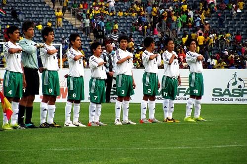 La ceremonia de los Himnos nacionales