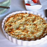 Ricotta and leek tart