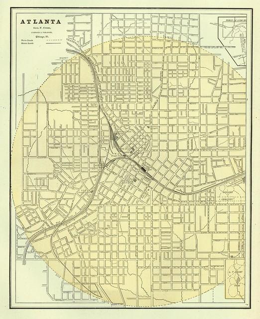 Atlanta Street Map 1888  Flickr  Photo Sharing