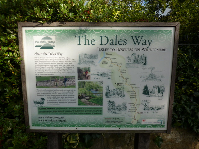 The Dales Way Information Panel at start