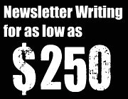 newsletter writing services Vancouver professional freelance writer