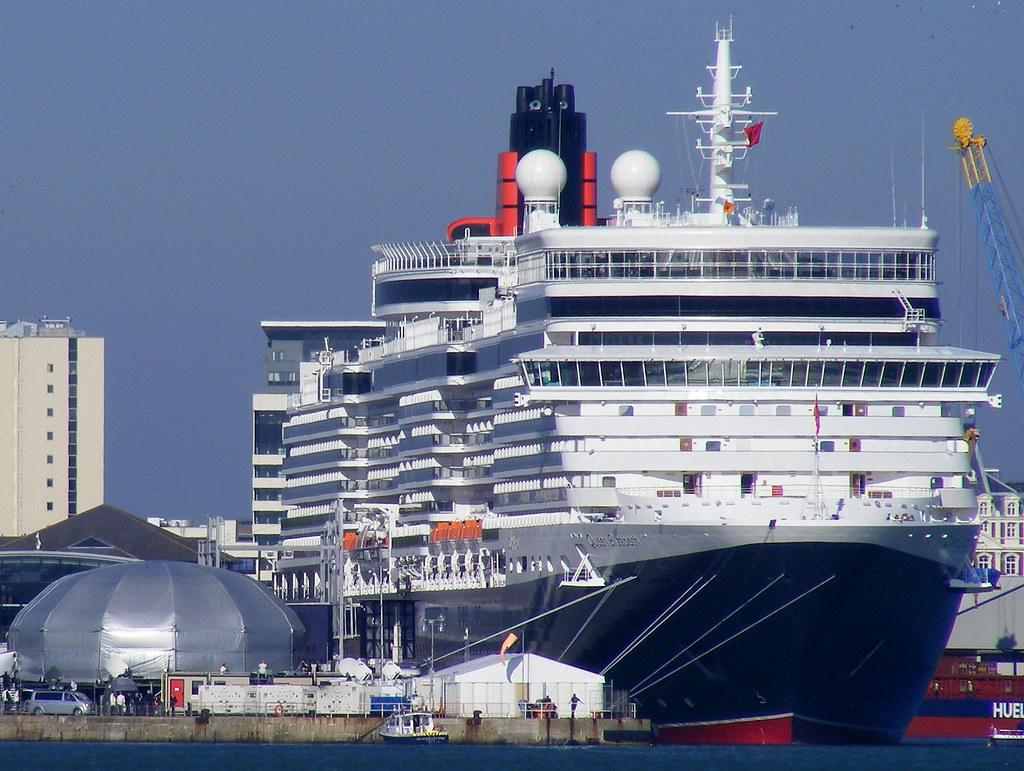 Queen Elizabeth in Ocean Terminal for her Naming Celebration