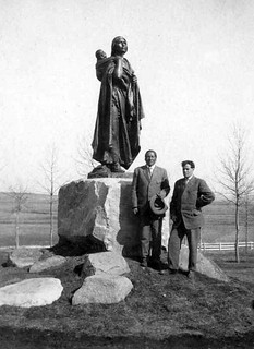 Sakakawea Statue with John Grass and J C Fish Bismarck ND