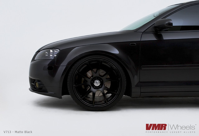 ... black on black audi a3 vmr wheels v713 19 matte black on black audi a3