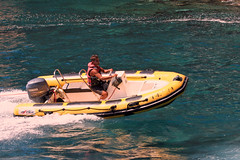 skiff(0.0), watercraft rowing(0.0), raft(0.0), dinghy(1.0), vehicle(1.0), sea(1.0), boating(1.0), motorboat(1.0), inflatable boat(1.0), rigid-hulled inflatable boat(1.0), watercraft(1.0), boat(1.0),