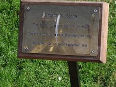 Photo of Winston Churchill brass plaque