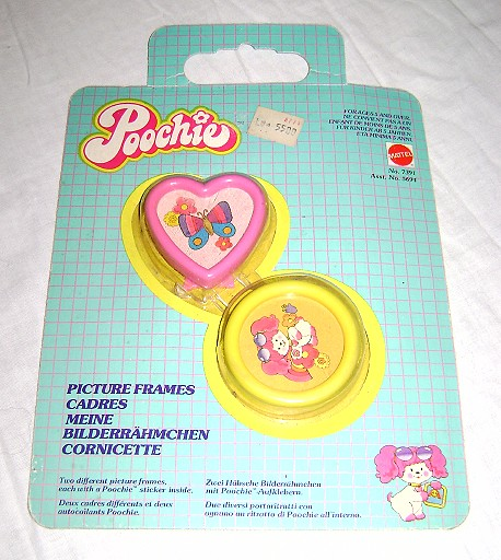 POOCHIE 80s Mattel Italy due cornicette - picture frames MISB