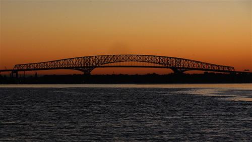 canon powershot sx120 pointandshoot stjohnsriver landscape jacksonville florida digital canonsx120 colors bridge river water sunrise