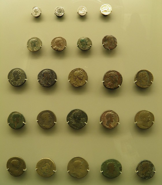 Coins of Hadrian, National Museum of Roman Art, Augusta Emerita