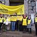IMK: Nichts zu verbergen? Amnesty-Mitglieder zeigen vor Innenministerien in Deutschland Präsenz