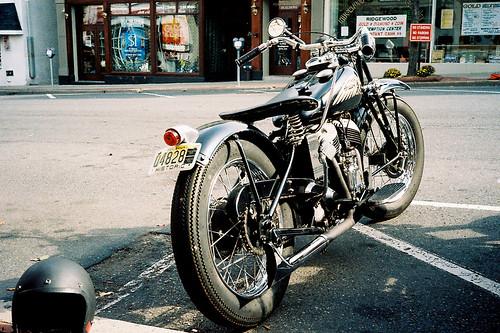 Vintage Indian motorcycle