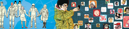 Social network (Magazine Illustration)
